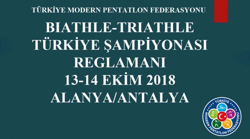 BIATHLE – TRIATHLE TÜRKİYE ŞAMPİYONASI 13-14-EKİM 2018